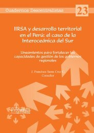 Cuaderno Descentralista #23: IIRSA y desarrollo territorial en el Perú