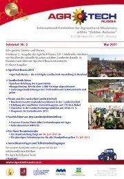 Infobrief Nr. 2 Mai 2011 - AgroTech Russia