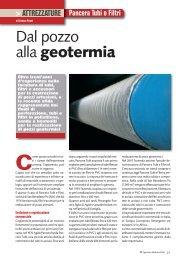 Articolo su Perforazioni & Fondazioni - ITA (pdf) - pancera tubi e filtri srl