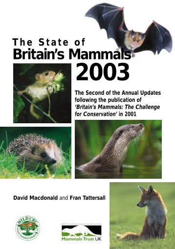 State of Britain's Mammals 2003 - People's Trust for Endangered ...
