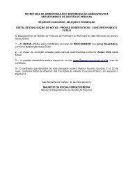 cp 01/2012 – procurador - Prefeitura de São Bernardo do Campo