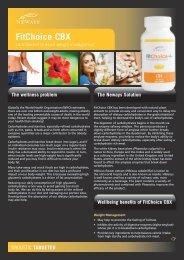 FitChoice CBX Fact Sheet - Neways International