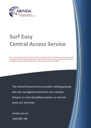 Surf Easy Central Access Service - Arinda Internet
