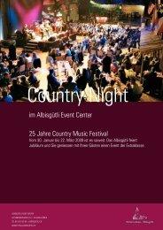 im Albisgütli Event Center 25 Jahre Country ... - Eventlokale.com