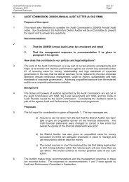 Audit Commission 2008/09 Annual Audit Letter