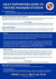 away supporters guide to visiting madejski stadium - Reading FC