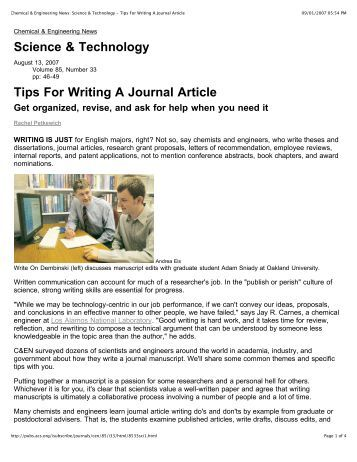 Writing journal article