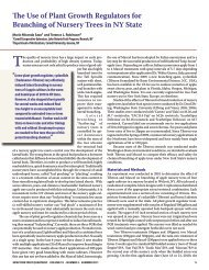 The Use of Plant Growth Regulators for Branching - New York State ...