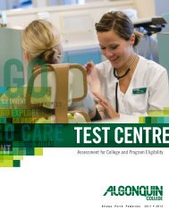 Test Centre's - Algonquin College