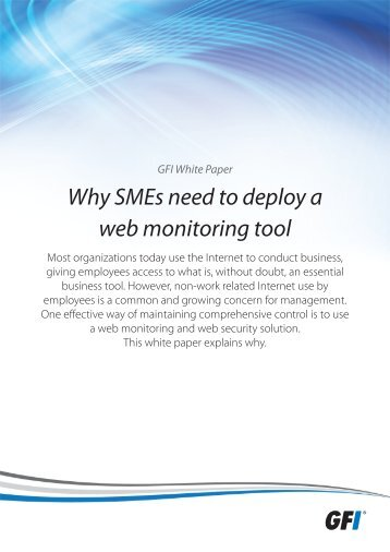 Why SMEs need to deploy a web monitoring tool - GFI.com