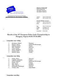 Results of the 14th European Police Judo Championship in ... - USPE