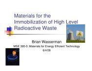 Materials for the Immobilization of High Level Radioactive Waste