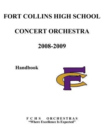 FORT COLLINS HIGH SCHOOL CONCERT ORCHESTRA 2008-2009