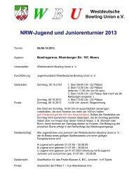 NRW-Jugend und Juniorenturnier 2013 - Westdeutsche Bowling ...