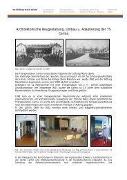 Architektonische Neugestaltung, Umbau u. Adaptierung der TS Carina