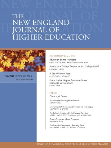 new england journal - New England Board of Higher Education