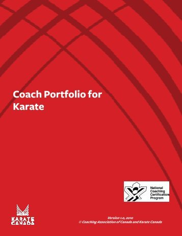 Coach Portfolio for Karate - Karate Canada