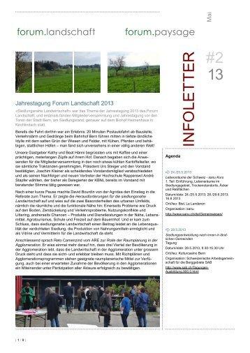 2/13 Mai 2013 - Forum Landschaft
