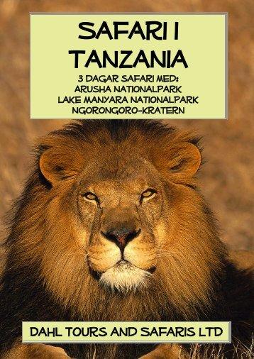Safariresa 3 dagar safari med nationalparker ... - Dahl Safaris
