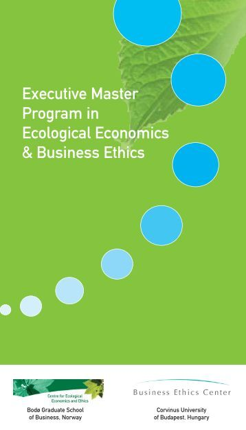 Master Program Informational Brochure