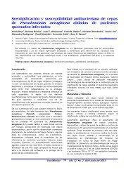 Estudio de cepas de Pseudomonas aeruginosa aisladas ... - SciELO