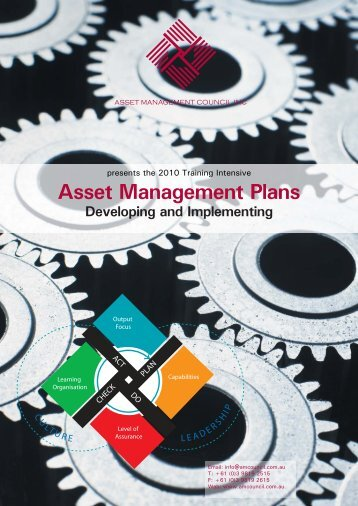 Asset Management Plans Developing and Implementing