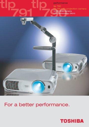 Prospekt tlp 790/791 (e) - Toshiba
