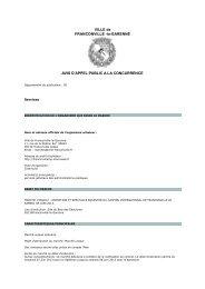 Consulter l'avis pour le marché n° 13DG012 - Franconville