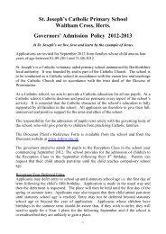 Primary School Policy 2012-13_final - St. Joseph's Catholic Primary ...