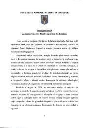 Mesajul ministrului administratiei si internelor cu ocazia ... - IGSU
