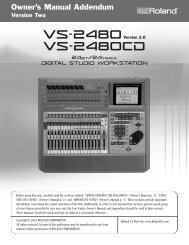 VS-2480 Owner's Manual Version Two Addendum - Roland