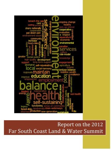 Land and Water Summit - Southern Rivers Catchment Management ...