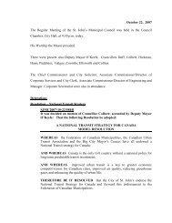 Council Minutes Monday, October 22, 2007 - City of St. John's