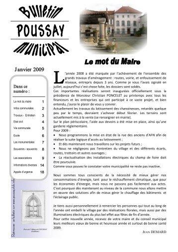 Janvier 2009 - Poussay Informatique