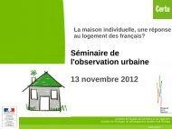La maison individuelle, une réponse au logement des français - Certu