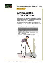 Faktablad om gulvlægning og gulvslibning - BAR Bygge & Anlæg