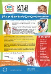 April 2010 - Kids at Home - Family Day Care