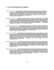 C. LIST OF GRADUATE THESES