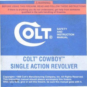 colt@ cowboytm single action revolver