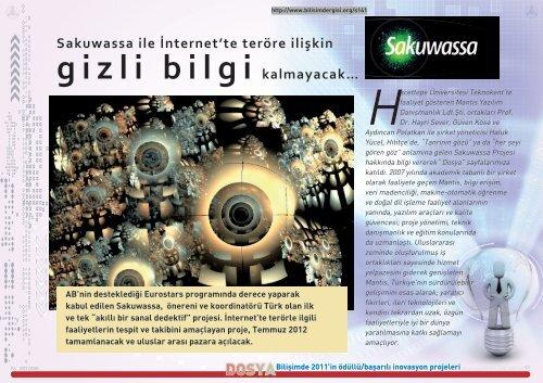 Sakuwassa Projesi, ontolojiye dayalı çıkarsama ve ... - Bilişim Dergisi