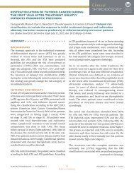 restratification of thyroid cancer during the first year after treatment ...