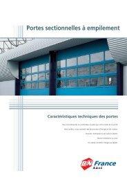 Portes sectionnelles à empilement - BN France 2000