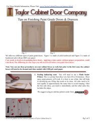 Tips on Finishing Paint Grade Doors & Drawers - Ordering Cabinet ...