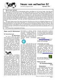 September Ausgabe 2011 - World's Christian Endeavor Union