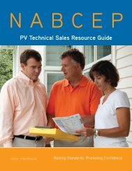 PV Technical Sales Resource Guide - nabcep