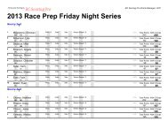 2013 Race Prep Friday Night points 6-14-13 - Roadrunners RC Club