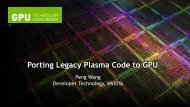 Porting Legacy Plasma Codes to GPU - GPU Technology Conference