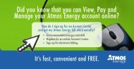 Did you know that you can View, Pay and Manage ... - Atmos Energy