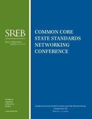 common core state standards networking conference - Southern ...