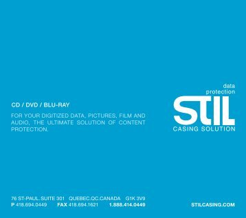 CD / DVD / Blu-Ray - STiL Casing Solution